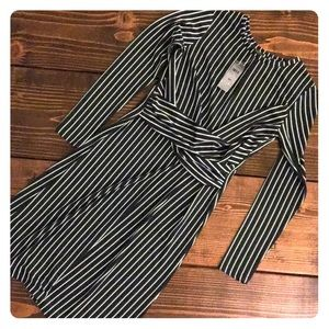 Long sleeve Ann Taylor striped dress size 0P
